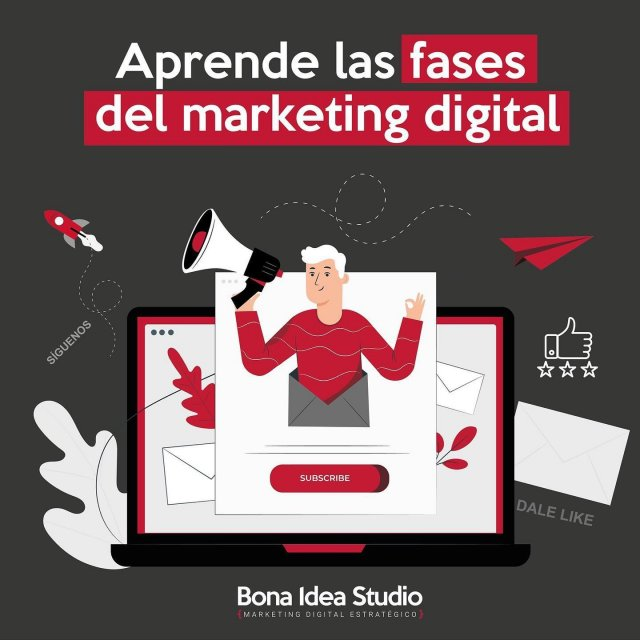Aprende las FASES DEL MARKETING DIGITAL que no puedes descartar 📢El modelo de marketing digital para este nuevo entorno digital 2.0 se compone de una secuencia de cuatro fases que se retroalimentan mutuamente: ☑️Tráfico a la web. ☑️Conversión dentro de la web. ☑️Relación digital con el cliente. ☑️ Reputación digital.Te explicamos cómo optimizar cada una. https://bonaideastudio.com/fasesmarketing#marketingdigital #digitalspecialist #Aprendermarketing #estrategiasmarketing #vendermas #traficoweb #conversiones #leads #masleads #reputaciondigital #emprender #emprendedores #soyemprendedora #aprendoyemprendo