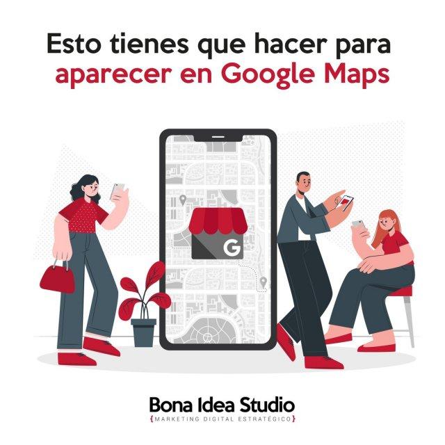Esto tienes que hacer para aparecer en Google Maps 📣  Pones el nombre de tu empresa en Google Maps ¿figura tu empresa?  No dejes de leer nuestro último post sobre para qué necesita tu empresa aparecer en los resultados con tu ficha de Google Maps y cómo hacerlo en sencillos pasos. 🚀  ➡️ Link bonaideastudio.com/googlemaps  Y ya sabes, si necesitas nuestra ayuda nos escribes, llamas o mandas un mensaje a través del chat de nuestra web.  #GoogleMaps #MiEmpresaenGoogle #Posicionamiento #SEO #aparecerengoogle #marketing #marketingdigital #emprendedores #emprendeya #diseñoweb #reseñas #fichadegoogle