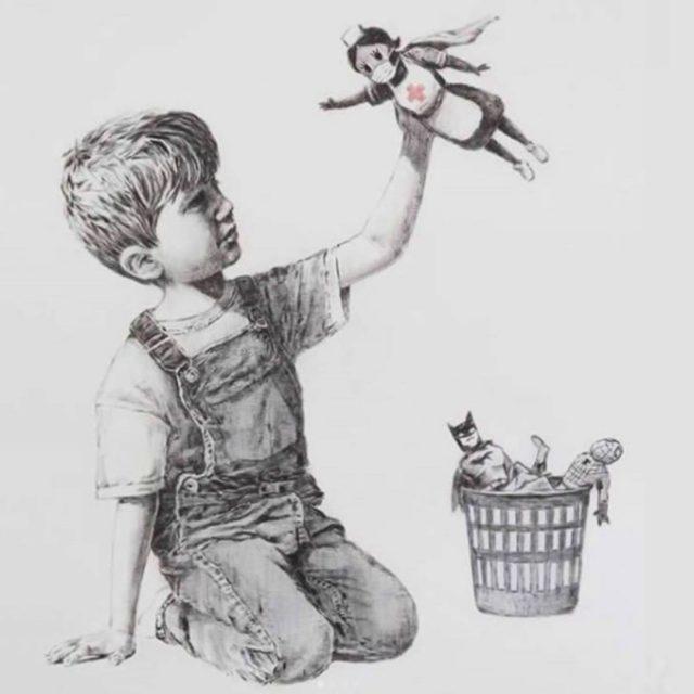 Una enfermera es la superheroína en la nueva obra de Banksy La pintura del artista callejero fue revelada el miércoles en el Hospital Universitario Southampton, en el sur de Inglaterra.  https://www.forbes.com.mx/noticias-enfermera-superheroina-nueva-obra-arte-banksy/  #bansky #Covid19 #JuntosPodemos #Gracias #sanitariosheroes #artistas #ilustradores #NHS #southamptonhospital ##quedateencasa ##stayhome